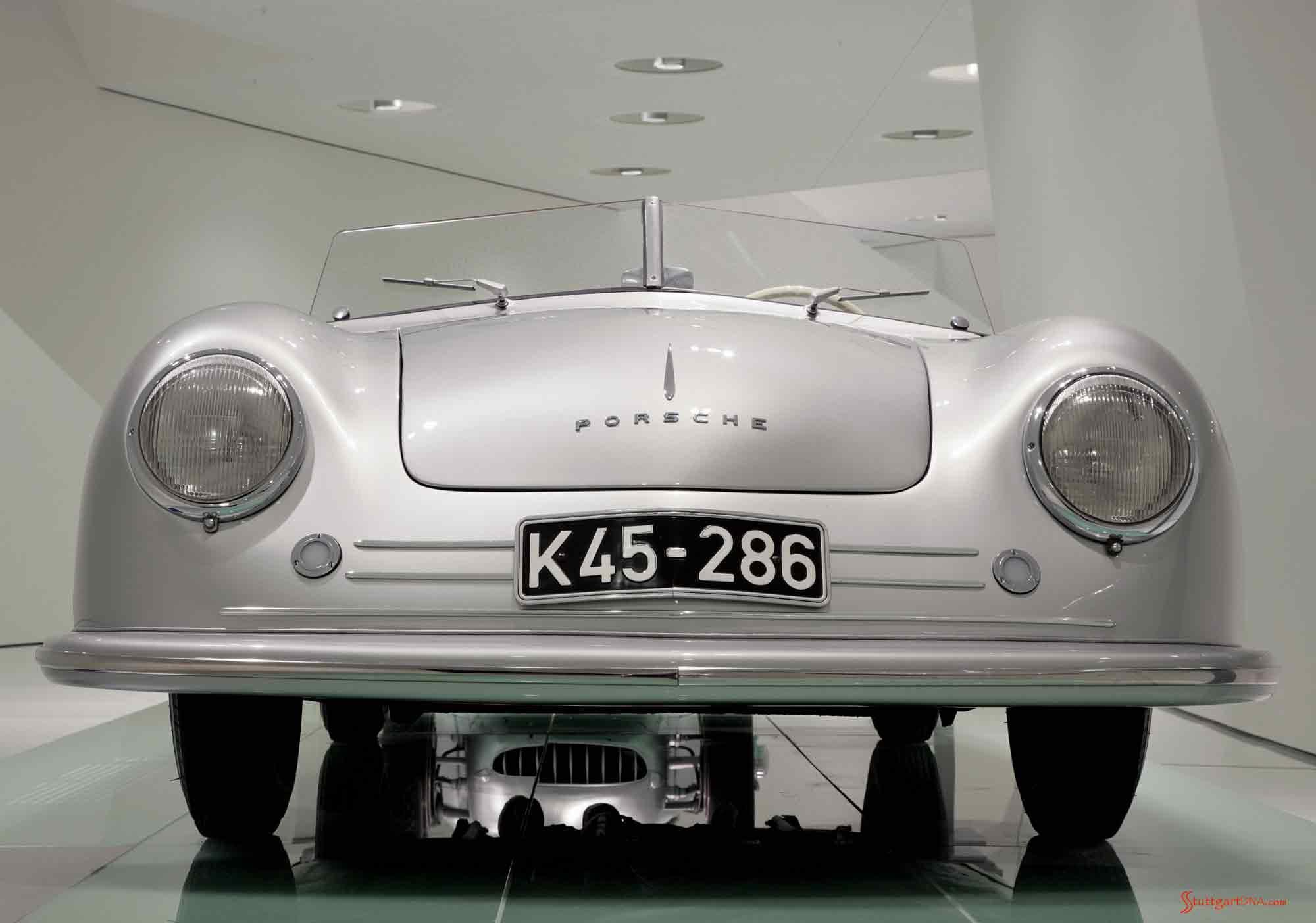Porsche No 1, front view, Porsche Museum Stuttgart. Credit: Porsche AG