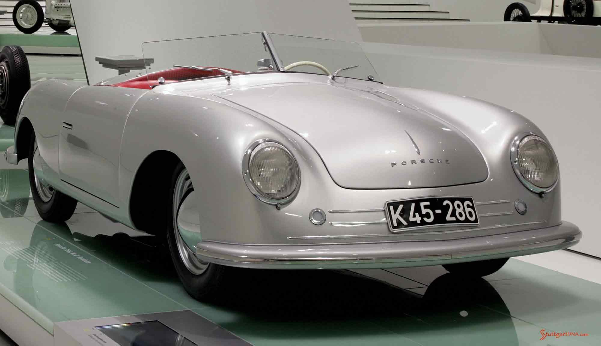 Porsche No 1, right-front, Porsche Museum Stuttgart. Credit: Porsche AG