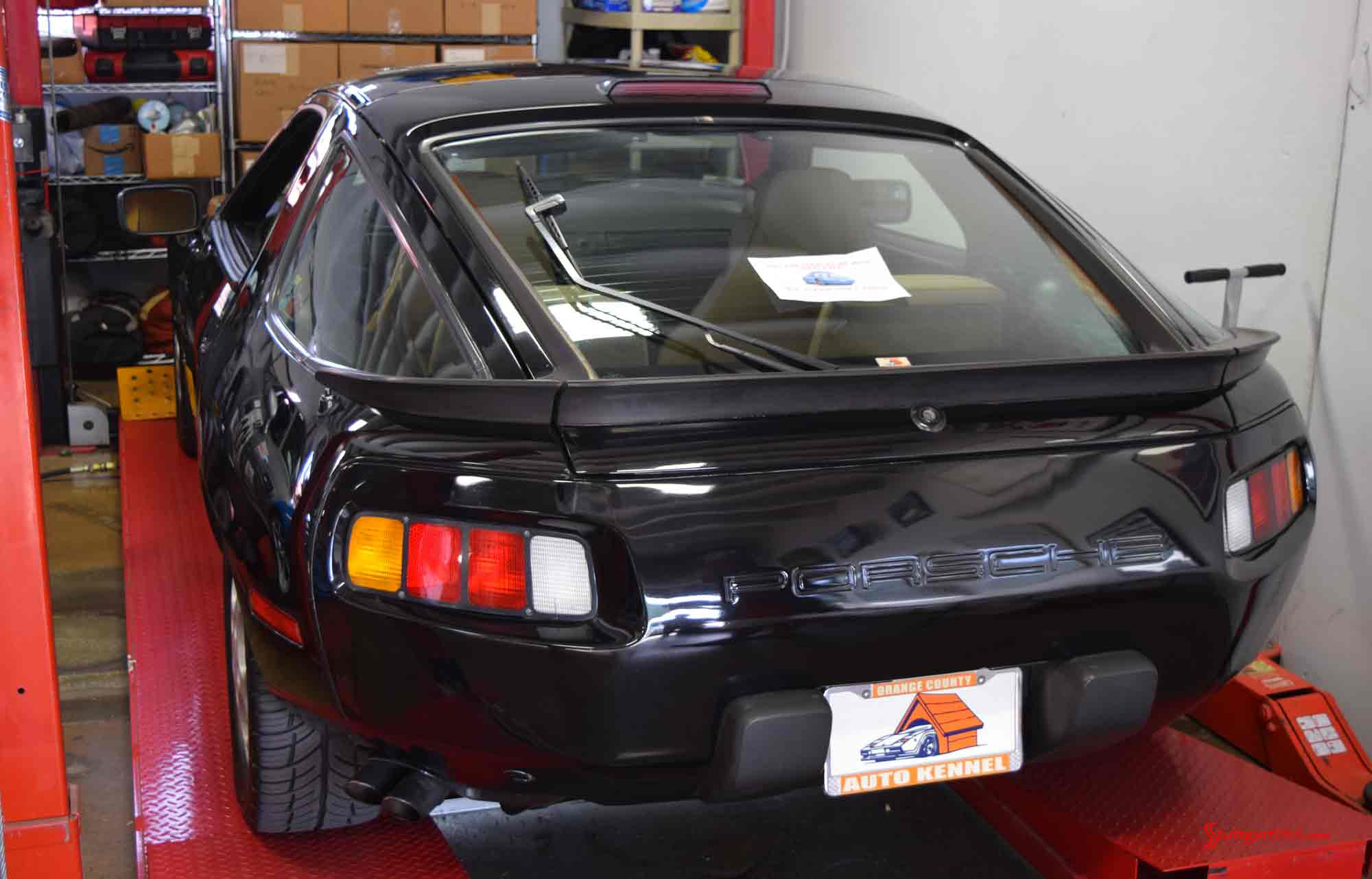 2017 Porsche L.A. Literature, Toy and Memorabilia Meet Weekend: This black-beauty Porsche 928 was on display - but not for sale at the 2017 Auto Kennel Open House. Credit: StuttgartDNA