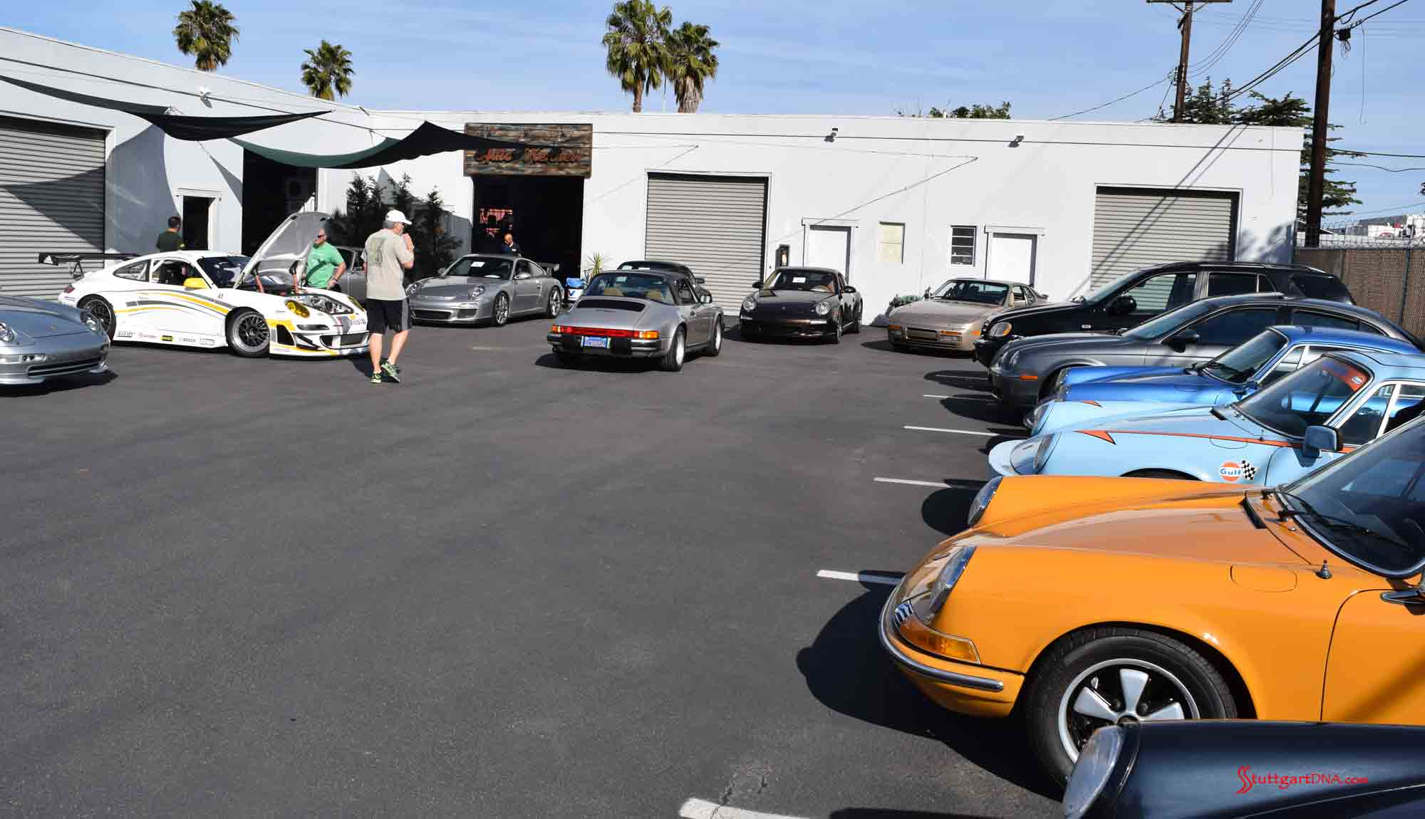 2017 Porsche L.A. Literature, Toy and Memorabilia Meet Weekend: Seen here is the Auto Kennel lot during its 2017 Lit Weekend Open House. Credit: StuttgartDNA