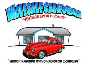 """2017 Porsche L.A. Literature, Toy and Memorabilia Meet Weekend: Seen here is the Wholesale California logo. Their motto on the logo is """"Selling the garage finds of California worldwide."""" Credit: Wholesale California"""