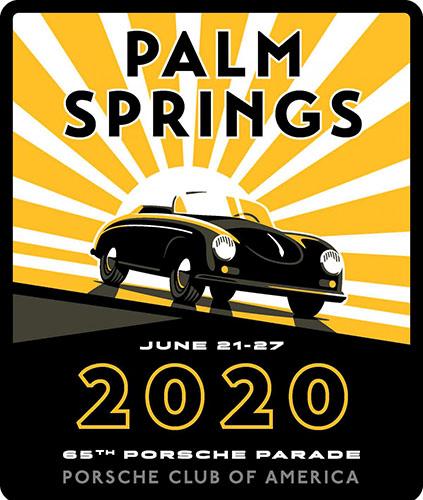 Porsche Parade 2020 Logo. Credit: Porsche Club of America